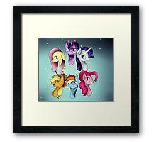 My Little Pony: Mane Six Group Framed Print