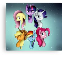 My Little Pony: Mane Six Group Canvas Print