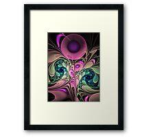 Evening splendour, artistic fractal abstract Framed Print