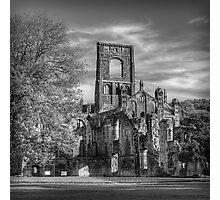 Kirkstall Abbey Mono Photographic Print