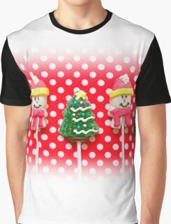 Christmas background with candies Graphic T-Shirt