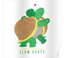 Two Slow Dancing Turtles In Love Poster