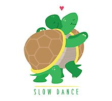 Two Slow Dancing Turtles In Love Photographic Print