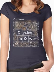 Cycling T Shirt - Cycling Power Women's Fitted Scoop T-Shirt