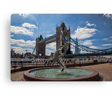 Mermaid, London Bridge and Shard Canvas Print