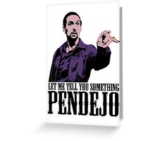 Jesus The Big Lebowski T shirt Let Me Tell You Something Pendejo Color Tshirt Greeting Card