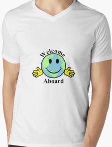 Welcome aboard Mens V-Neck T-Shirt