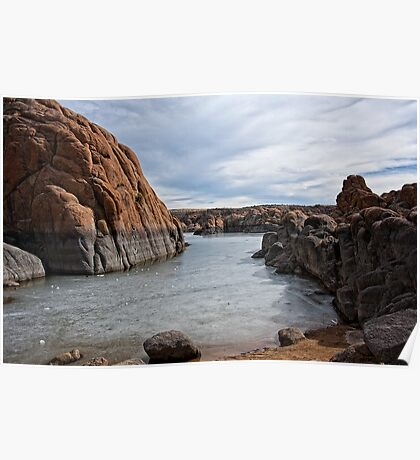Granite Dells Winter at Prescott Arizona Poster