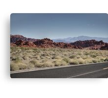 Desert of the fire valley Canvas Print