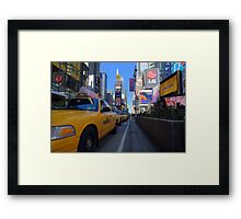 Taxi View Framed Print