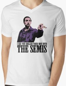 Jesus The Big Lebowski T shirt I see You Rolled Your Way Tshirt Mens V-Neck T-Shirt