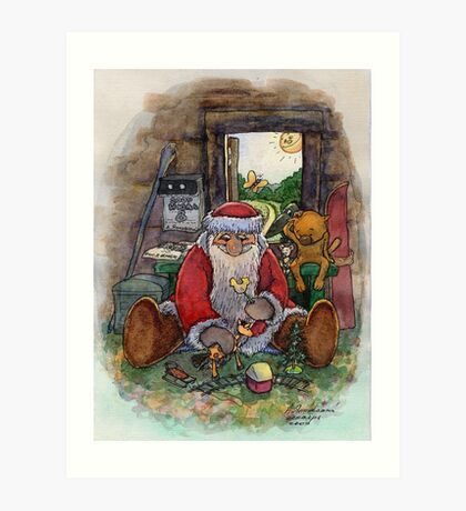 Father Frost in the summer Art Print