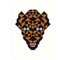 Mutant tiger Art Print