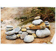 Zen Rocks Poster