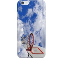 Basketball hoop in the sky iPhone Case/Skin