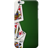 Group of playing cards spread out iPhone Case/Skin