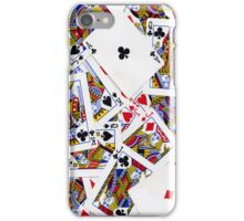 Group of playing cards background iPhone Case/Skin