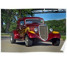 1934 Ford 3 Window Coupe Poster