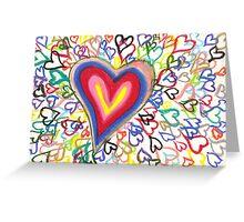 I Heart U Greeting Card