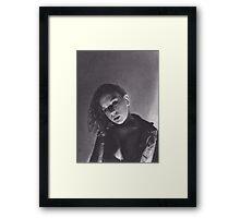 Curly Hair Woman Framed Print