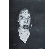 Bloody Woman Photographic Print