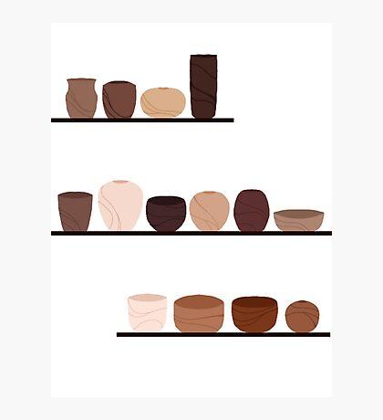 Shelves of Bowls Photographic Print