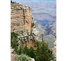 South Rim Edge and Rock Grand Canyon Photographic Print