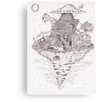 island of wise monkey Canvas Print