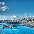 Harbour at Ponta Delgada, Azores by Steve