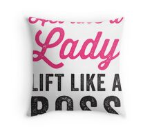 Act Like A Lady Lift Like A Boss (Black) Throw Pillow