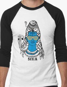 LORD SHIVA, COSMIC ROCKSTAR Men's Baseball ¾ T-Shirt