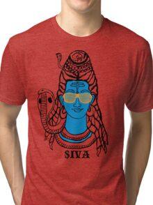 LORD SHIVA, COSMIC ROCKSTAR Tri-blend T-Shirt