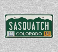 Colorado Sasquatch License Plate  by thebigfootstore