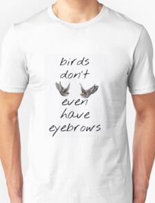 Birds Don't Even Have Eyebrows ft. Harry Styles' Swallow Tattoos Unisex T-Shirt