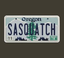 Oregon Sasquatch License Plate by thebigfootstore