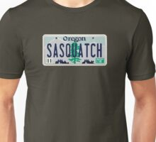 Oregon Sasquatch License Plate Unisex T-Shirt