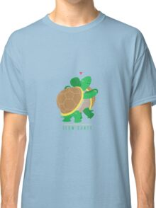 Two Slow Dancing Turtles In Love Classic T-Shirt
