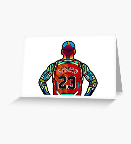 Michael Jordan - Stained Glass Greeting Card