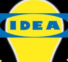 Bright IDEA parody logo for IKEA Sticker
