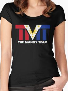 The Manny Team Filipino Flag TMT by AiReal Apparel Women's Fitted Scoop T-Shirt