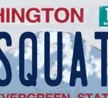 Washington Sasquatch License Plate  Sticker