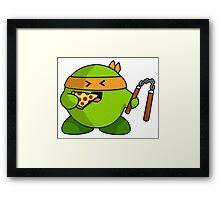 Ninja  snack Framed Print