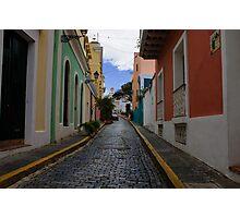 Dazzling Caribbean Colors - a Street in San Juan, Puerto Rico Photographic Print