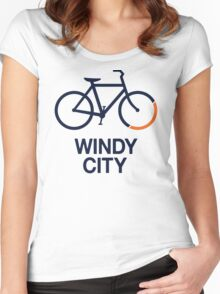 Bike Windy City (v1) Women's Fitted Scoop T-Shirt
