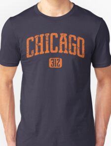 Chicago 312 (Orange Print) T-Shirt