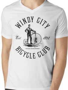 Chicago Bicycle Club Mens V-Neck T-Shirt