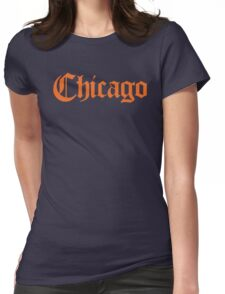 Chicago Gothic (Orange Print) Womens Fitted T-Shirt