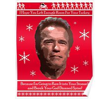Arnold Christmas - Room for Turkey Poster