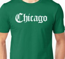 Chicago Gothic (White Print) Unisex T-Shirt
