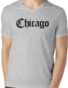 Chicago Gothic (Black Print) Mens V-Neck T-Shirt